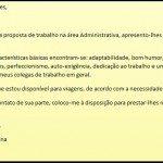 Carta de Apresentação para Currículos