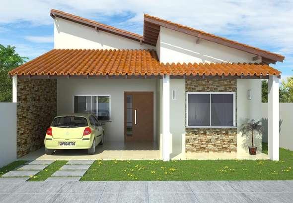 Fachadas de casas com garagem modernas pequenas fotos for Modelos de patios de casas pequenas