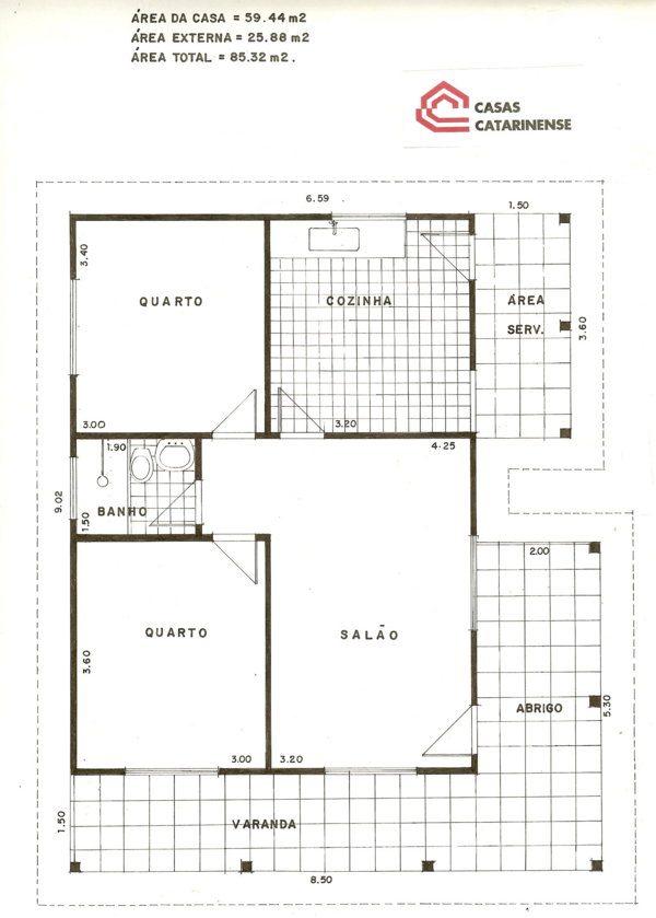 Plantas de casas pequenas modernas com 2 1 ou 3 quartos - Plantas para casas ...