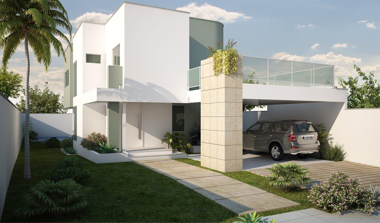 Fachadas de casas com garagem modernas pequenas fotos for Casas con piscina interior fotos