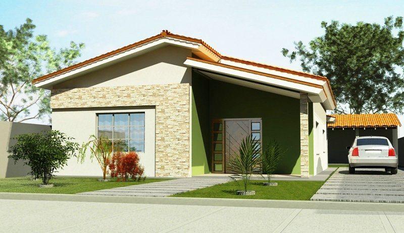 Fachadas de casas com garagem modernas pequenas fotos for Las mejores fachadas de las villas
