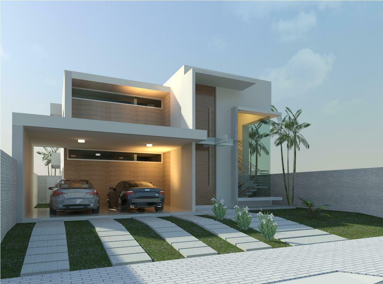 Fachadas de casas com garagem modernas pequenas fotos for Fachadas de jardines para casas