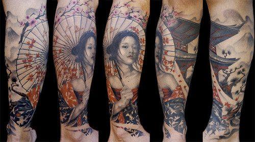 significado da tatuagem de gueixa