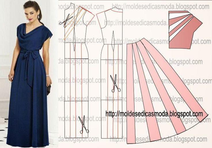 Выкройку длинного платья