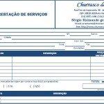 Modelo de Recibo de Serviço Prestado