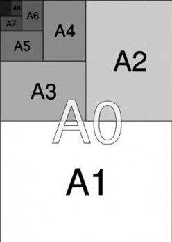 tamanho a3 a4