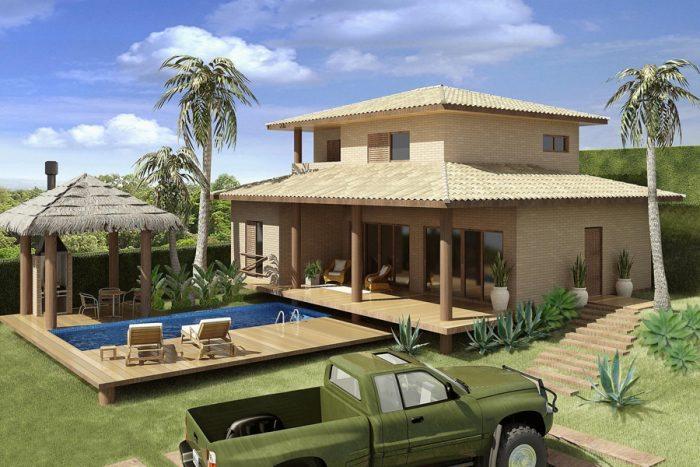 10 modelos de decora o de casas de campo for Modelos de piscinas de campo