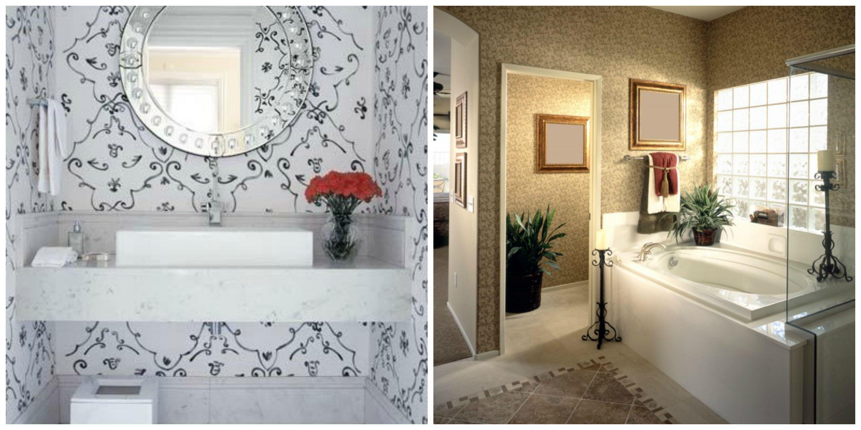 Papel de parede para quarto cozinha banheiro sala for Papel de pared para salon