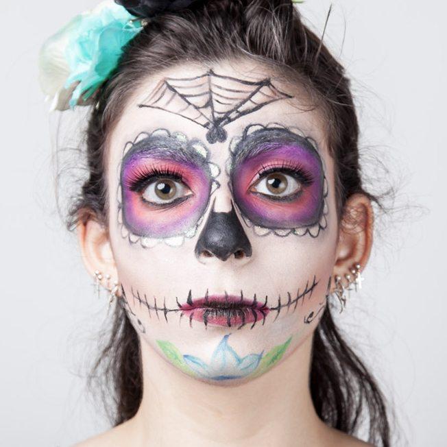 Maquiagem de caveira como fazer maquiagem de caveira for Pinturas de cara para halloween