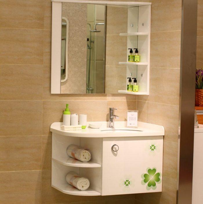 Armario de parede para banheiro de vidro : Gabinete de canto para banheiro modelos e fotos