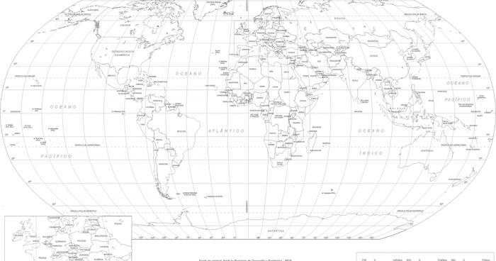 Mapa Mundi Poltico  Mapa Atual para Imprimir Colorir Online e mais