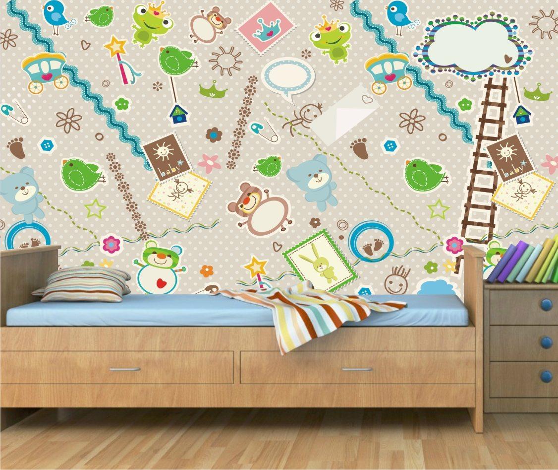Papel de parede para quarto cozinha banheiro sala infantil comprar - Papel de pared bebe ...