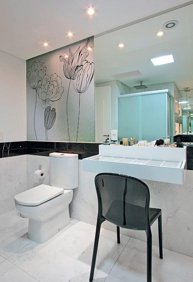 Papel de Parede para quarto, cozinha, banheiro, sala, infantil, comprar -> Banheiro Moderno Com Papel De Parede